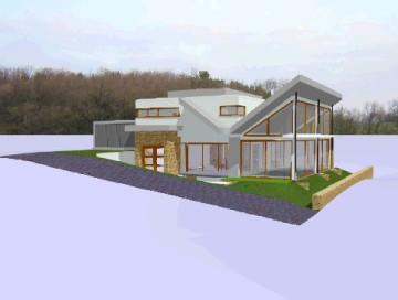 3D-Modell Villa, HPB Planungsbüro Nußloch, Bauplanung Nußloch, Baukunst Region Heidelberg